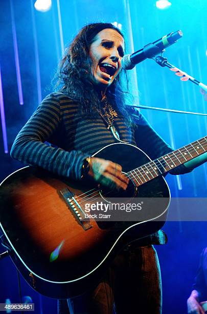 Linda Perry of 4 Non Blondes performs at The LA Gay Lesbian Center's Annual An Evening With Women at The Beverly Hilton Hotel on May 10 2014 in...