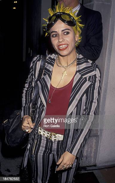 Linda Perry of Four Non Blondes attends Third Annual APLA Celebrity Billiards Benefit on June 21 1994 at the Hollywood Athletic Club in Hollywood...