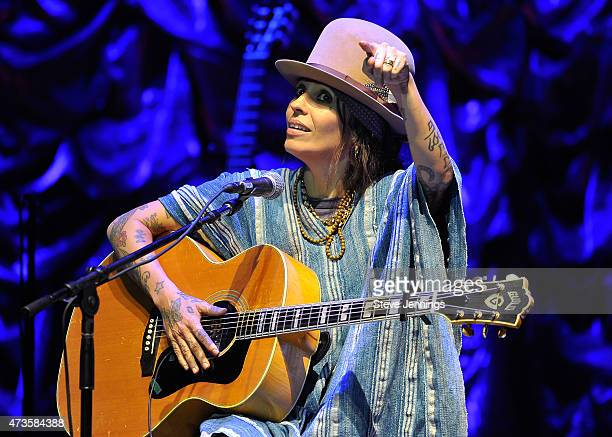 Linda Perry performs at the 2nd Annual Acoustic4ACure Benefit Concert at The Masonic Auditorium on May 15 2015 in San Francisco California