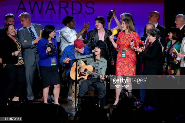 Linda Perry performs on stage with representatives and honorees at GRAMMYs on the Hill 2019 on April 09 2019 in Washington DC