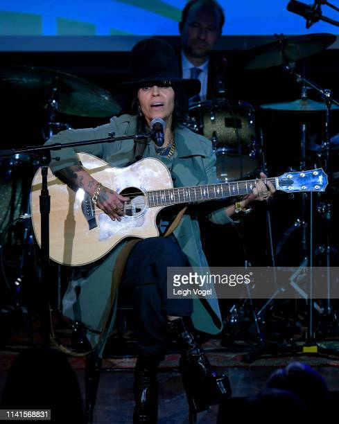 Linda Perry perforns o GRAMMYs on the Hill 2019 on April 09, 2019 in Washington, DC.