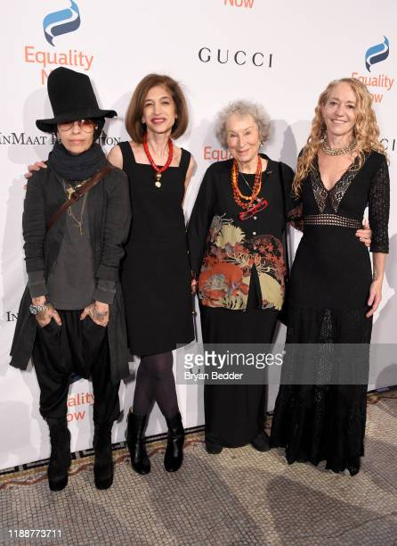 Linda Perry Yasmeen Hassan Margaret Atwood and Lara Stein attends the annual Make Equality Reality Gala hosted by Equality Now on November 19 2019 in...