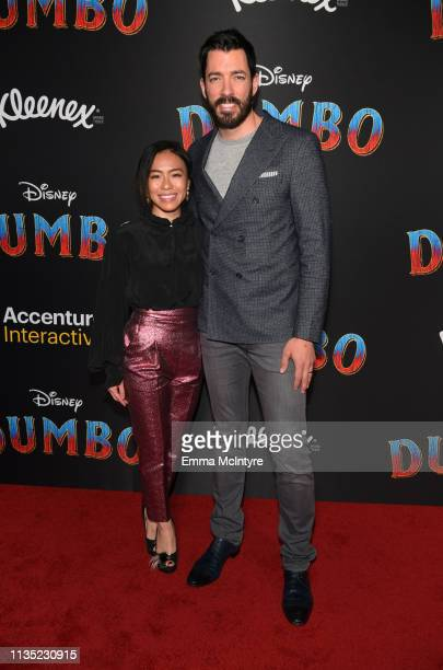 Linda Phan and Drew Scott attend the premiere of Disney's Dumbo at El Capitan Theatre on March 11 2019 in Los Angeles California