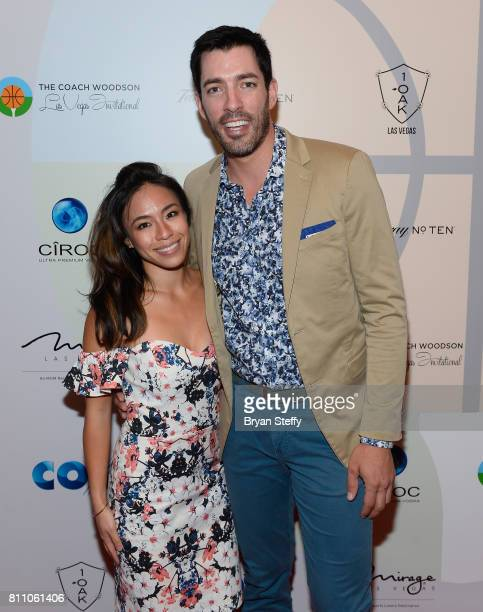 Linda Phan and television personality Drew Scott arrive at the Coach Woodson Las Vegas Invitational red carpet and pairings gala at 1 OAK Nightclub...