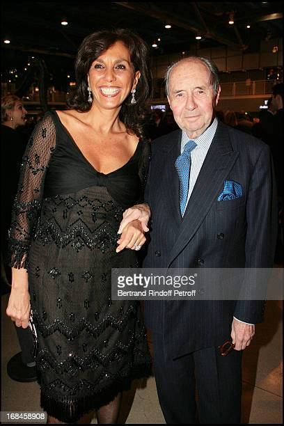 Linda Pinto and Comte Edouard De Ribes at Gala Evening Societe Des Amis Du Musee National D'Art Moderne At The Centre Pompidou In Paris