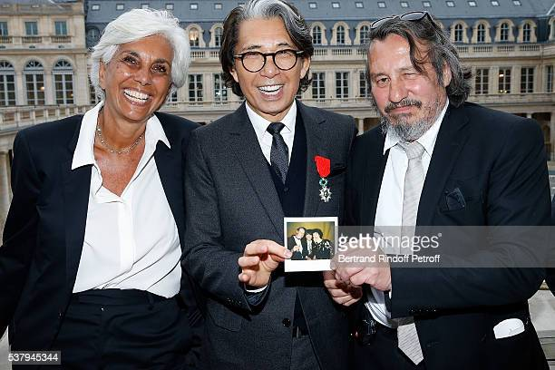 Linda Pinto Kenzo Takada and Ku Khan attend Kenzo Takada Is Honoured With The Insignes of Chevalier De La Legion D'Honneur at Conseil Constitutionnel...