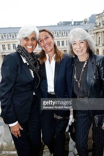 Linda Pinto Pia de Brantes and Ariel de Ravenel attend Kenzo Takada Is Honoured With The Insignes of Chevalier De La Legion D'Honneur at Conseil...