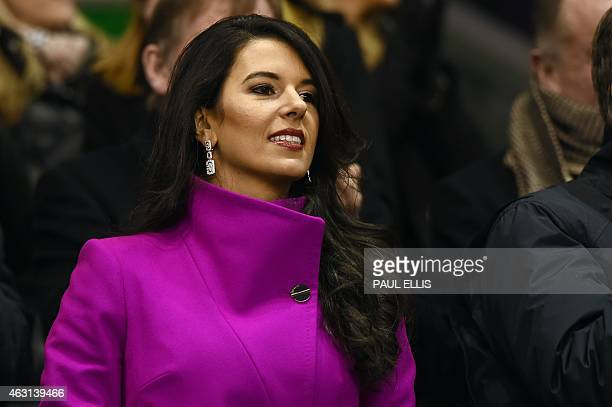Linda Pizzuti Henry wife of Liverpool's US owner John W Henry attends the English Premier League football match between Liverpool and Tottenham...