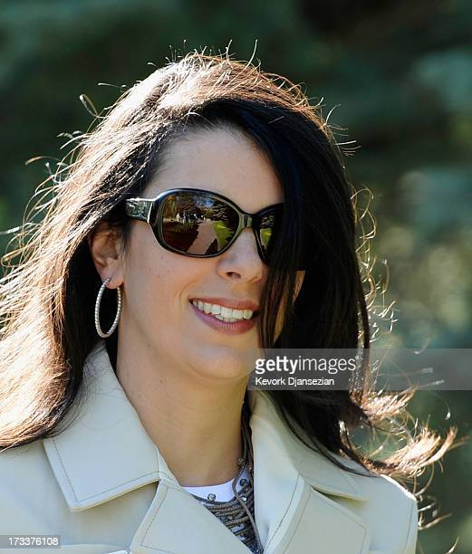 Linda Pizzuti wife of John Henry owner of Boston Red Sox arrives to Allen Co to annual conference on July 12 2013 in Sun Valley Idaho The resort will...
