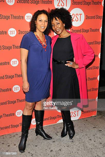 Linda Powell and Harriett D Foy attend the OffBroadway opening night of By the Way Meet Vera Stark at the Second Stage Theatre on May 9 2011 in New...