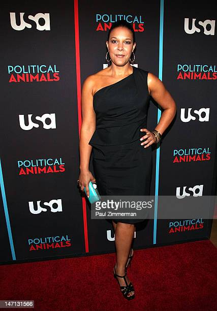 Linda Powell attends the Political Animals premiere at The Morgan Library Museum on June 25 2012 in New York City