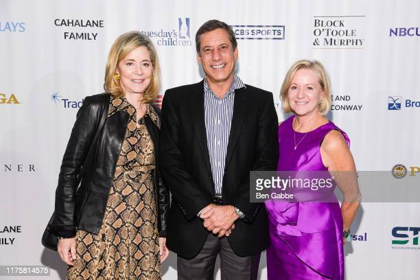 Linda Powers Mark Porcelli and Kathy Gable attend the Rise Up For Resilience Gala at Gustavino's on September 19 2019 in New York City