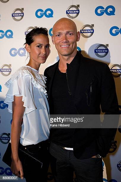 Linda Rama and Michael Klim arrives for the 2008 Volvo GQ Men of the Year Awards at Comme on September 30, 2008 in Melbourne, Australia.