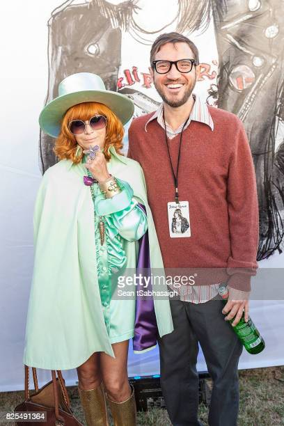 Linda Ramone and musician John Frusciante pose for a photo at the 2017 Johnny Ramone tribute and special screening of 'Buffalo '66' at the Hollywood...
