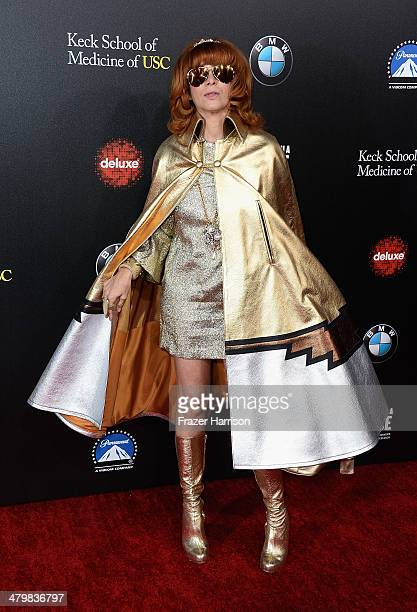 Linda Ramone arrives at the 2nd Annual Rebels With A Cause Gala at Paramount Studios on March 20 2014 in Hollywood California