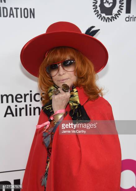Linda Ramone attends the 27th annual Elton John AIDS Foundation Academy Awards Viewing Party sponsored by IMDb and Neuro Drinks celebrating EJAF and...