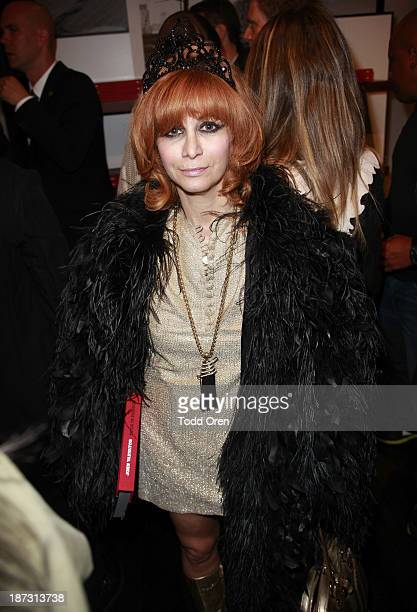 Linda Ramone attends the John Varvatos Rock In Fashion book launch celebration held at John Varvatos Los Angeles on November 7 2013 in Los Angeles...