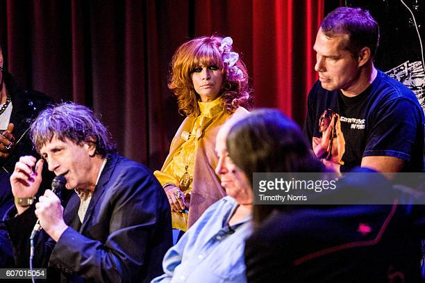 Linda Ramone Shepard Fairey Mickey Leigh Seymour Stein and Scott Goldman speak during Hey Ho Let's Go Celebrating 40 Years of the Ramones at The...