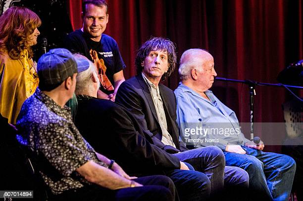 Linda Ramone Shepard Fairey Monte Melnick Ed Stasium Mickey Leigh and Seymour Stein speak during Hey Ho Let's Go Celebrating 40 Years of the Ramones...