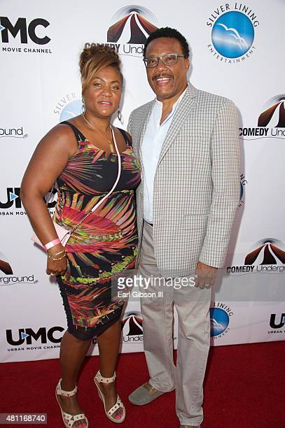 Linda Reese and husband Judge Greg Mathis attend The Comedy Underground Series Vol 3 And 4 at Alex Theatre on July 17 2015 in Glendale California