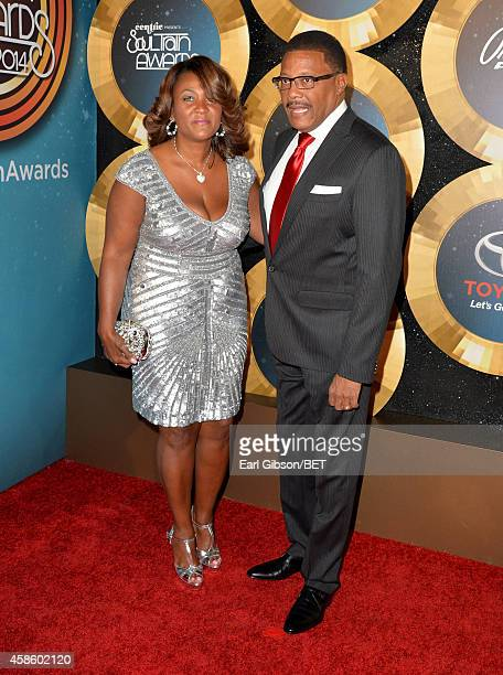 Linda Reese and Judge Greg Mathis attend the 2014 Soul Train Music Awards at the Orleans Arena on November 7 2014 in Las Vegas Nevada