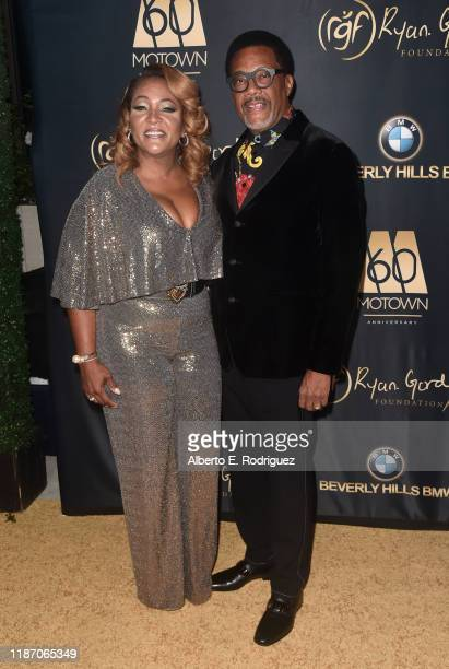 Linda Reese and Judge Greg Mathis attend The Ryan Gordy Foundation Celebrates 60 Years Of Mowtown at Waldorf Astoria Beverly Hills on November 11...