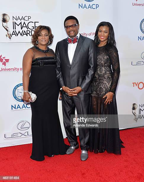 Linda Reese television personality Greg Mathis and Camara Mathis arrive at the 46th Annual NAACP Image Awards on February 6 2015 in Pasadena...