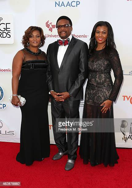 Linda Reese TV personality Greg Mathis and Camara Mathis attend the 46th NAACP Image Awards presented by TV One at Pasadena Civic Auditorium on...