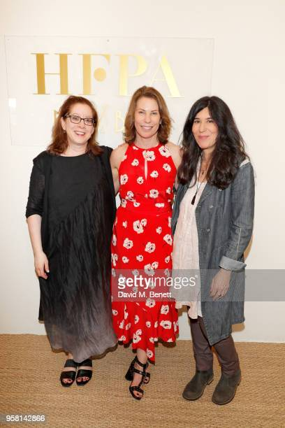 Linda Reisman, Anne Harrison and Debra Granik attend the Leave No Trace party presented by Perrier-Jouet at Nikki Beach on May 13, 2018 in Cannes,...
