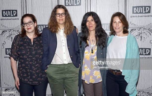 Linda Reisman Anne Rosellini Debra Granik and Anne Harrison attends the Build Series to discuss Animal Planet's 'Leave No Trace' at Build Studio on...