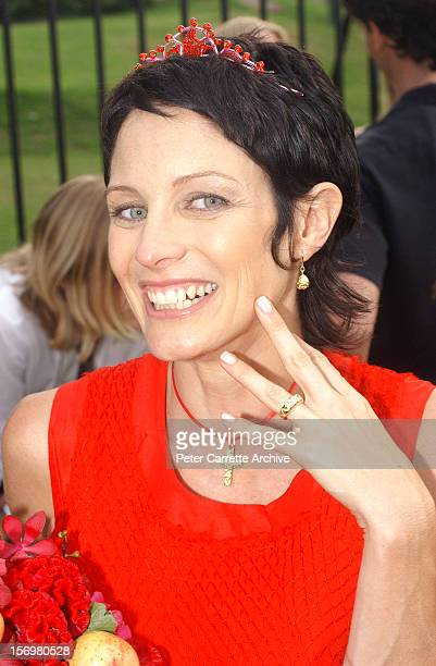 Linda Ridgeway after her marriage to Australian actor Kip Gamblin at the Botanic Gardens on March 20 2004 in Sydney Australia