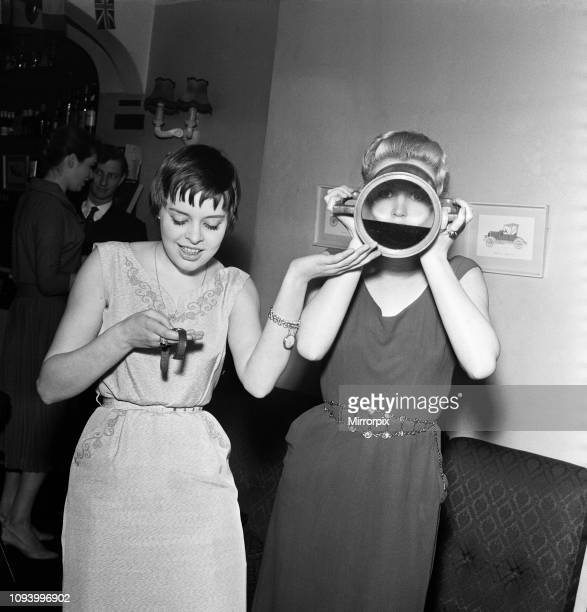 Linda Ridgeway from Manchester and Janet Lyndon from Leeds who are both dancers at the Astor Club where challenged by Julia Gorrang of the Blenheim...