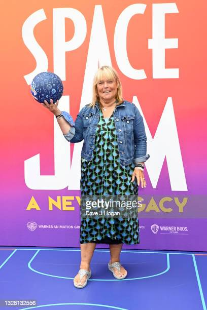 """Linda Robson attends a special screening of """"SPACE JAM: A NEW LEGACY"""" in cinemas 16th July at Cineworld Leicester Square on July 11, 2021 in London,..."""
