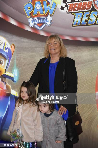"""Linda Robson attends the gala screening of """"Paw Patrol"""" at Cineworld Leicester Square on January 19, 2020 in London, England."""