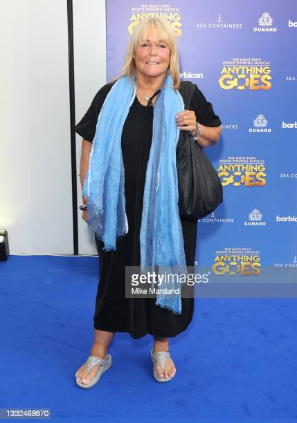 Linda Robson attends the press night of 'Anything Goes' at Barbican Theatre on August 04, 2021 in London, England.