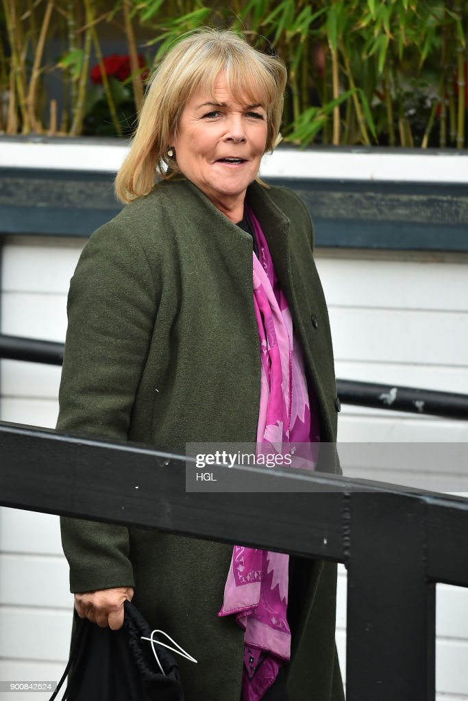 Linda Robson seen at the ITV Studios on January 3, 2018 in London, England.