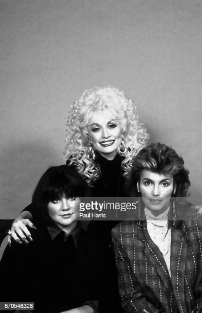 Linda Ronstadt Dolly Parton and Emmylou Harris photographed April 9 1987 Hollywood Los Angeles California