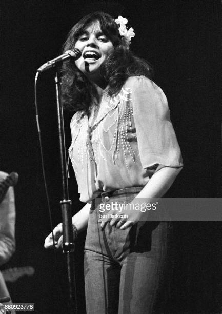 Linda Ronstadt performing on stage at New Victoria Theatre London 1974