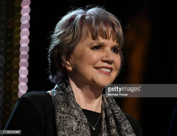 Linda Ronstadt speaks at the MusiCares Person of the Year honoring Dolly Parton at Los Angeles Convention Center on February 8 2019 in Los Angeles...
