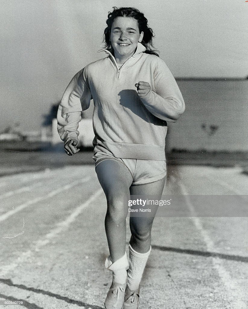 Linda Russell; 14; of Brampton; enjoys training for the 100 metres and relay in which she will compe : News Photo