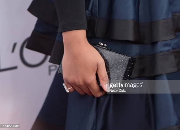 Linda Sarsour purse detail attends the 2017 Glamour Women of The Year Awards at Kings Theatre on November 13 2017 in New York City
