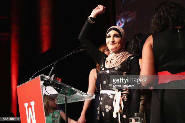 Linda Sarsour speaks onstage at the Ms Foundation for Women 2017 Gloria Awards Gala After Party at Capitale on May 3 2017 in New York City