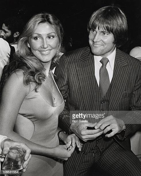 Linda Thompson and Bruce Jenner during Can't Stop the Music Premiere June 19 1980 at Lincoln Center in New York City New York United States