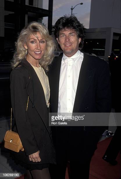 Linda Thompson and David Foster during Forget Paris Los Angeles Premiere at Academy Theater in Los Angeles California United States