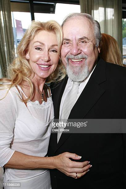 Linda Thompson and George Schlatter during Nancy Davis 'Lean On Me' Book Launch Party at Norman's in Los Angeles California United States
