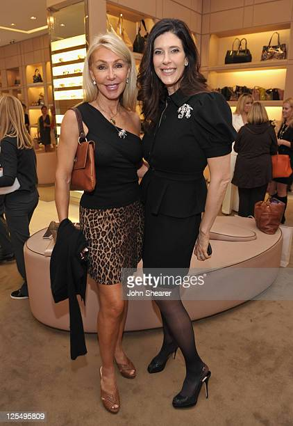 Linda Thompson and Liane Weintraub attend Jimmy Choo's 15th Anniversary hosted by Vanity Fair and Liane Weintraub at Jimmy Choo on December 10 2010...