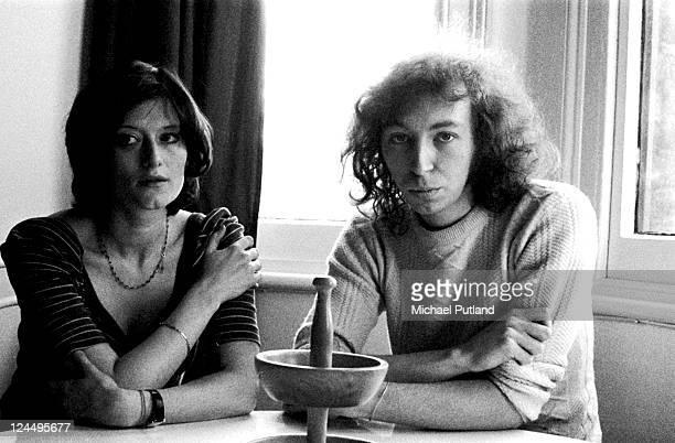 Linda Thompson and Richard Thompson portrait London January 1974