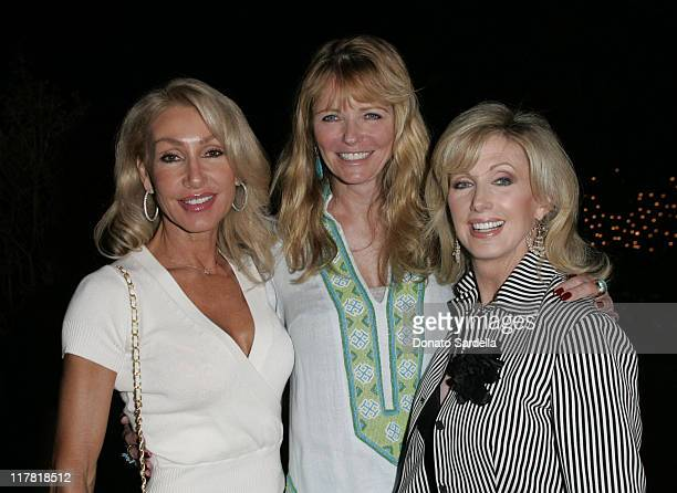 Linda Thompson, Cheryl Tiegs and Morgan Fairchild during De Beers Hosts Pre-Emmy Party at Christine Lahti's Home - September 15, 2005 at Private...