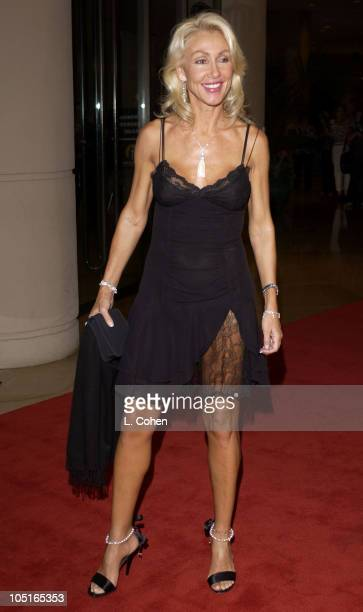 Linda Thompson during 2003 Hollywood Awards Gala Ceremony Red Carpet at Beverly Hilton Hotel in Beverly Hills California United States