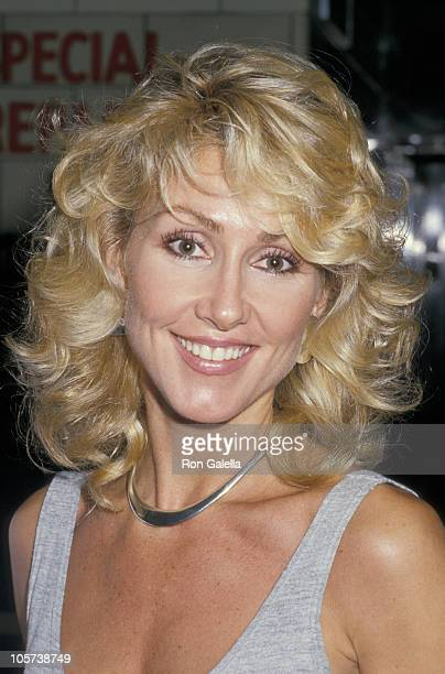 Linda Thompson during Linda Thompson and David Foster Leaving Ed Debevic's Restaurant at Ed Debevic's in Los Angeles California United States